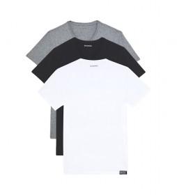 Pack de 3 Camisetas UMTEE-Michael blanco, negro, gris