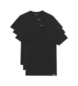 Pack de 3 Camisetas Interior UMTEE-Randal negro