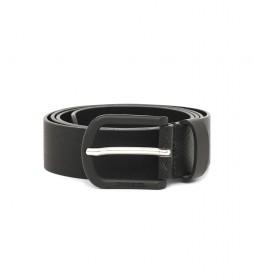 Cinturón de piel B-Spiga negro