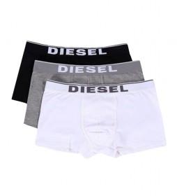 Pack 3 Bóxers Damien negro, gris, blanco