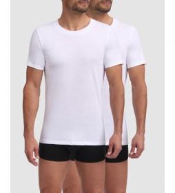 Pack de 2 camisetas de algodón blanco