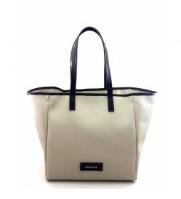 Bolso Shopping AC915STTOBE beige -30x46x19cm-