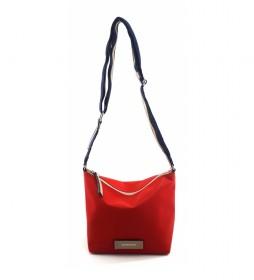 Bolso de Hombro AC220STTOMO rojo -21x23x14cm-