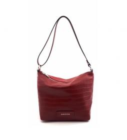 Bolso de piel AE220COSICE rojo -21x23x14cm-
