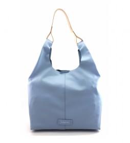 Bolso de piel AE107SICI azul claro -31x34x12cm-