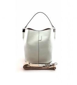 Bolso de piel blanco AE110PAOFWH -26x28x16cm-