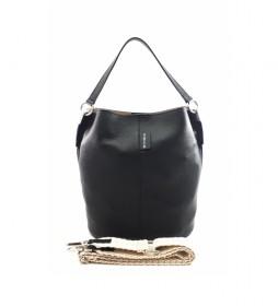 Bolso de piel negro AE110PANE -26x28x16cm-