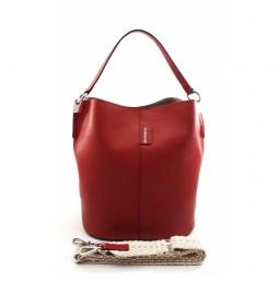 Bolso de piel rojo AE110PACE -26x28x16cm-