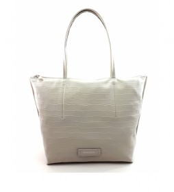 Bolso de piel blanco -40 x 29 x 13 cm-