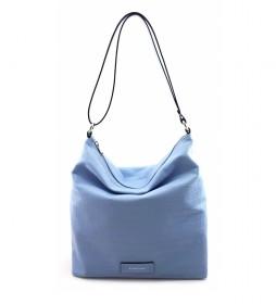 Bolso de piel azul -32 x 31 x 12 cm-