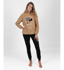 Pijama Fashion Darling camel, negro