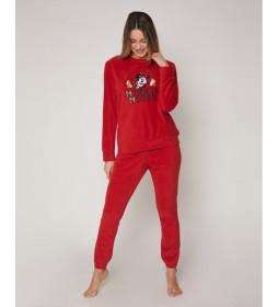 Pijama Minnie Gold rojo