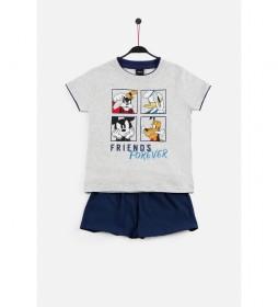 Pijama Manga Corta Friends Forever azul