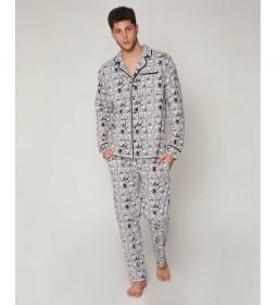 Pijama Donald 34 gris