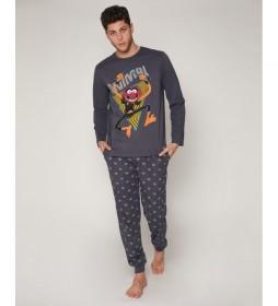 Pijama Animal Music gris marengo