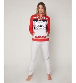 Pijama Mickey rojo, blanco