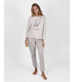 Pijama Minnie Soft beige