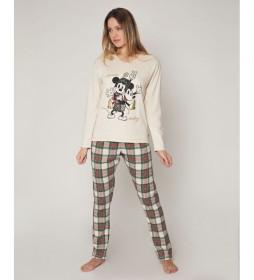 Pijama Funny Friend beige, multicolor