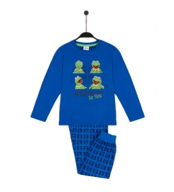 Pijama Kermit azul