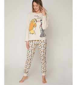 Pijama Lady and the Tramp beige