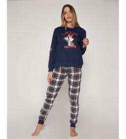 Pijama Mickey marino, multicolor
