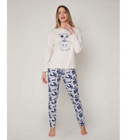 Pijama Mickey Jeans beige, azul