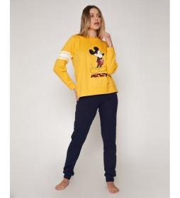 Pijama Mickey mostaza, marino