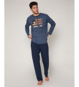 Pijama  Mickey Rollin azul