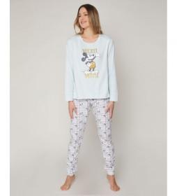 Pijama Manga Larga Mickey Soft para Mujer