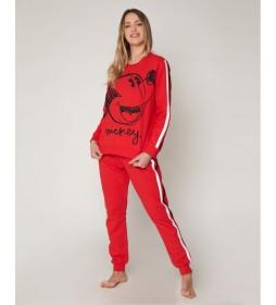 Pijama Mickey Sport rojo