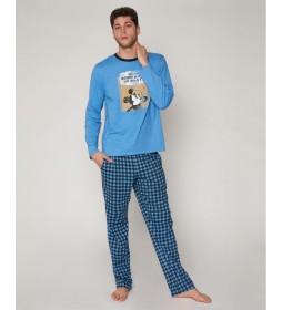 Pijama Mickey?s Question azul