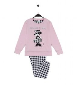 Pijama Minnie Chic rosa, multicolor