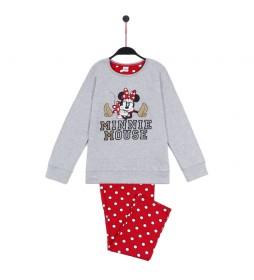 Pijama Gold gris, rojo