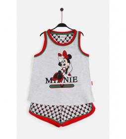 Pijama Tirantes Minnie Cool  gris jaspe