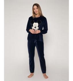 Pijama Velour Mickey marino