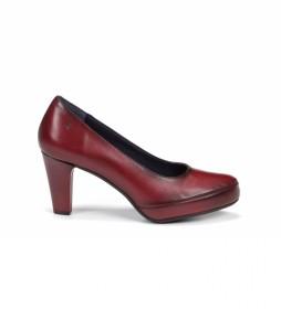 Zapatos de piel Blesa D5794 Sugar granate -Altura tacón: 8 cm-