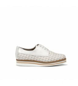 Zapatos de piel Romy D7852 blanco
