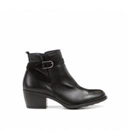 Botines de piel D8331 negro -Altura tacón: 5,5 cm-