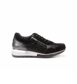 Zapatillas de piel D8678ISXAC negro