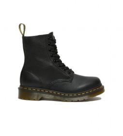 Botas de piel 1460 Pascal negro