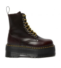 Botas de piel Jadon Max burdeos -Altura plataforma: 5,5 cm-