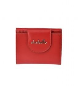 Monedero pequeño de piel Anicalf rojo -10x10x2.5cm-