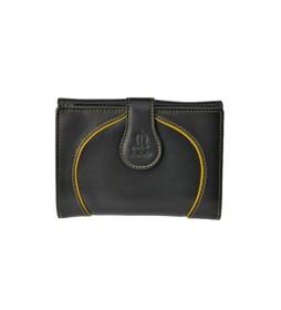 Monedero de piel Greta negro -14x10x3cm-