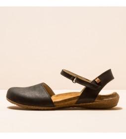 Zapatos de piel N412  Wakataua negro