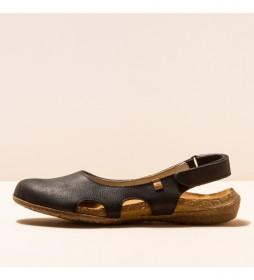 Zapatos de piel N413 Wakataua negro