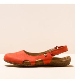 Zapatos de piel N413 Wakataua coral