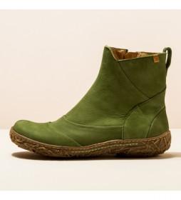 Botines de piel N5450 Nido verde