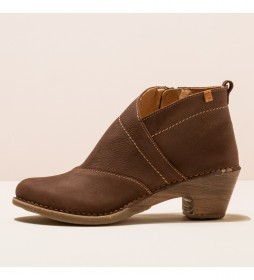 Botines de piel N5491 Sylvan marrón -Altura tacón 5,5cm-