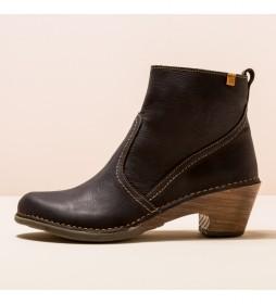 Botines de piel N5493 Sylvan negro -Altura tacón 5,5 cm-