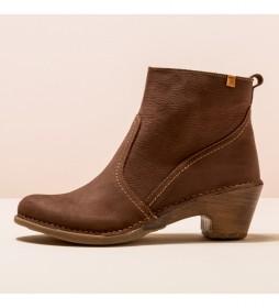 Botines de piel N5493 Sylvan marrón -Altura tacón 5,5 cm-